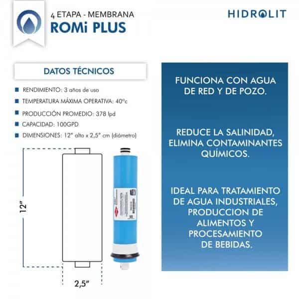 Membrana Osmosis Inversa ROMi Plus Hidrolit